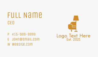 Couch Lamp Furniture Business Card