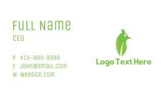 Green Abstract Bird Business Card
