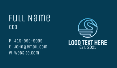 Gradient Swan Outline Business Card