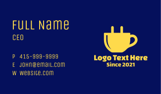 Yellow Cup Plug Business Card