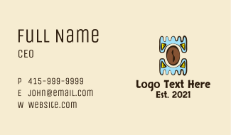 Aztec Coffeehouse Business Card