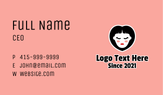 Heart Woman Salon Business Card