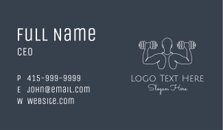 Minimalist Body Builder Business Card