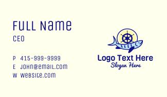 Ship Wheel Tuna Business Card