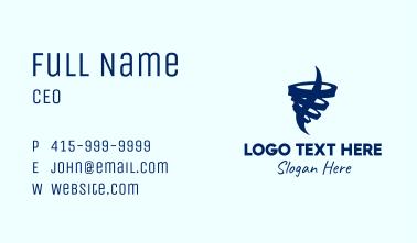 Minimalist Tornado Cyclone Business Card