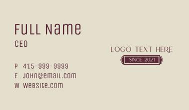 Fancy Magical Wordmark Business Card