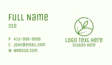 Minimalist Botanical Leaf Business Card
