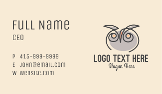 Owl Scribble Business Card