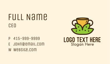 Tea Leaves Cup  Business Card