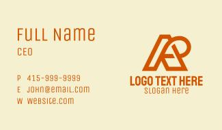 A & R Loop Monogram Business Card