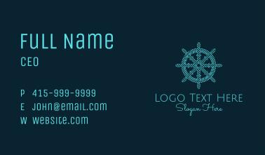 Ship Helm Sketch  Business Card