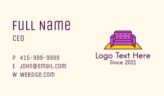 Living Room Couch Business Card