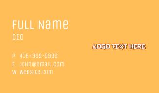 Anime Wordmark Business Card