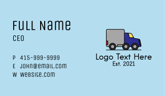 Truck Delivery Service Business Card