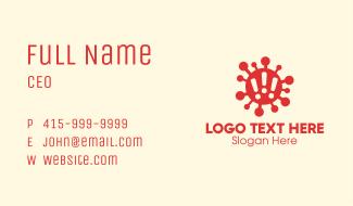 Virus Outbreak Alert Business Card