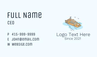 Sea Ferry Cruise Business Card