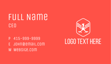 Eagle Claw Badge Business Card