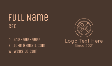 Axe & Knife Camping Badge Business Card