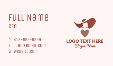 Woman Heart Fashion Business Card