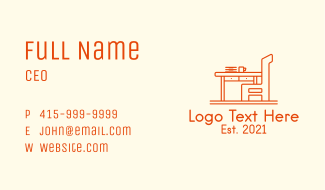 Office Table Chair Business Card