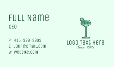 Lime Cocktail Drink  Business Card