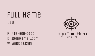 Mystical Tarot Eye  Business Card