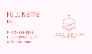 Hexagon Cupcake Dessert Business Card
