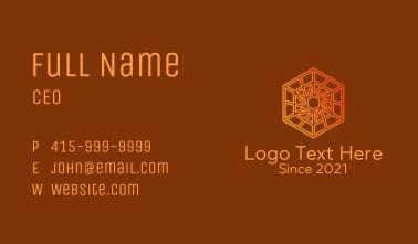 Hexagon Construction Company Business Card
