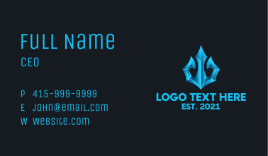 Neptune Trident Gaming Business Card
