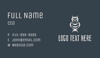 Tribal Owl Business Card