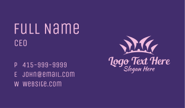 Pink Pageant Crown Business Card