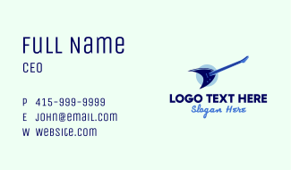 Blue Electric Guitar Business Card