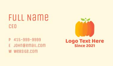 Autumn Pumpkin Vegetable Business Card