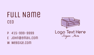 Sofa Furniture Couch Business Card