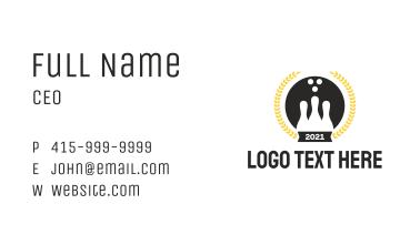 Bowling Emblem Business Card