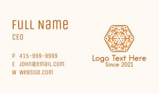 Ornamental Hexagon Decoration Business Card