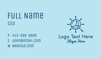 Nautical Steering Wheel Business Card