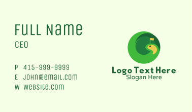 Circle Golf Course Business Card