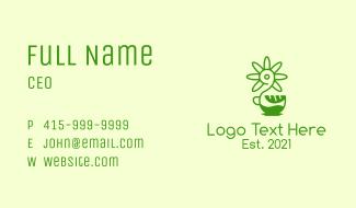 Green Flower Cafe Business Card