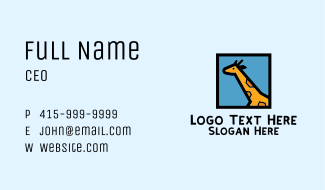 Giraffe Frame Business Card