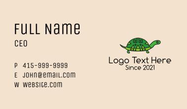 Ethnic Tortoise Animal  Business Card