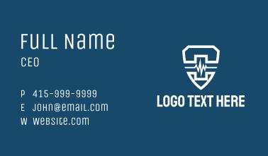 White Lifeline Shield  Business Card