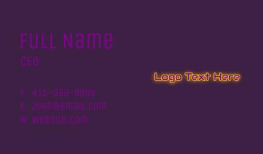 Simple Gaming Wordmark Business Card