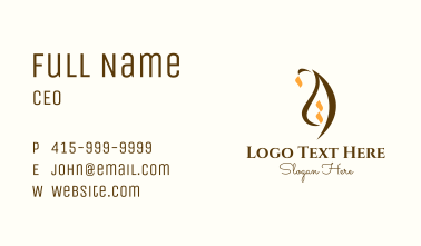 Abstract Islamic Dome Business Card