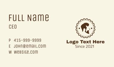 Barber Salon Badge  Business Card