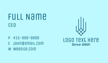 Blue Digital Hand  Business Card