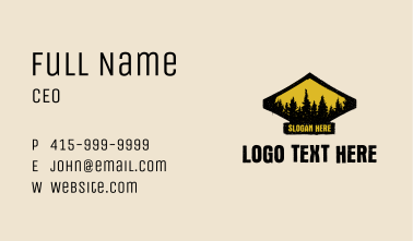 Rustic Forestry Badge Business Card