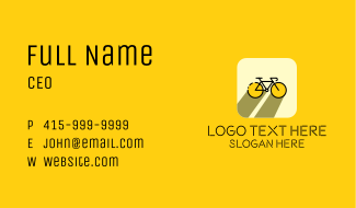 Bicycle Cycling Bike App Business Card