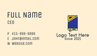 Mathematical Triangle Book  Business Card