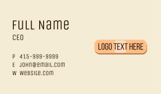 Bandage Wordmark Business Card